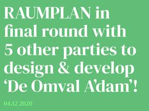 Raumplan is selected with 5 parties to design & develop Omval Weespertrekvaart