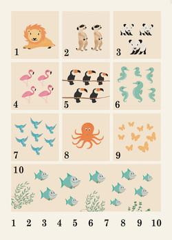 Animals 123 Poster