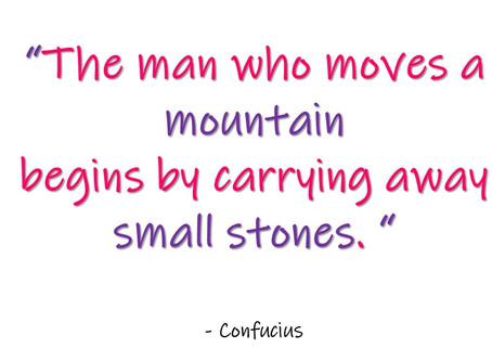 Little steps...