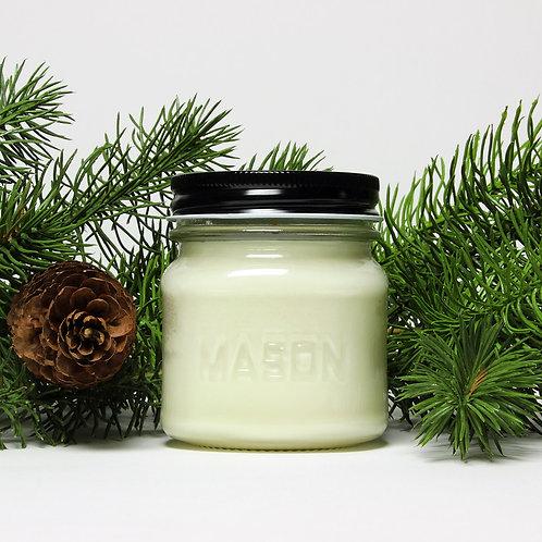 White Birch & Pine -8 oz Mason Jar