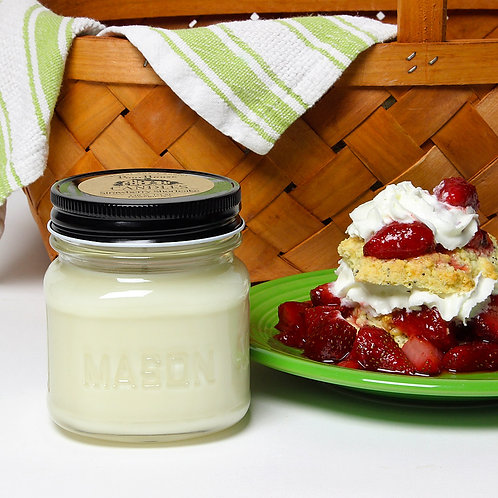 Strawberry Shortcake -8 oz Mason Jar