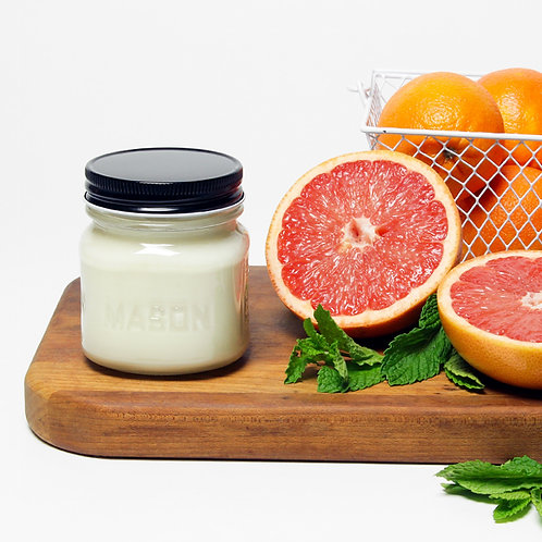 Grapefruit Mint -8 oz Mason Jar