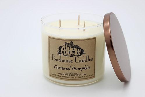Caramel Pumpkin -16 oz Three Wick Candle