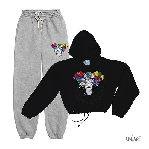 Hymn of the elephant II sweat suit