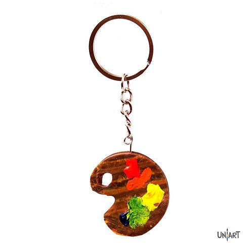 artist palette keychains colors colorful uniart key holder favourite things art clayart polymer clay