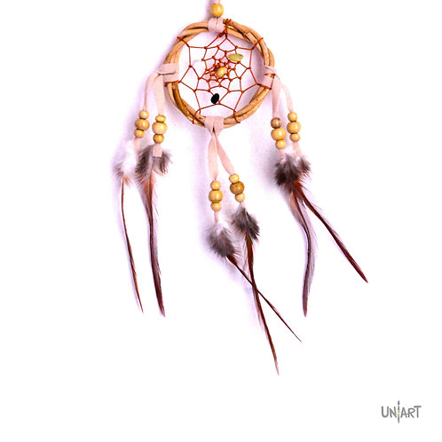 uniart 5cm car dreamcatcher decoration wood boho bohemian gypsy feather handmade native indians americans bamboo