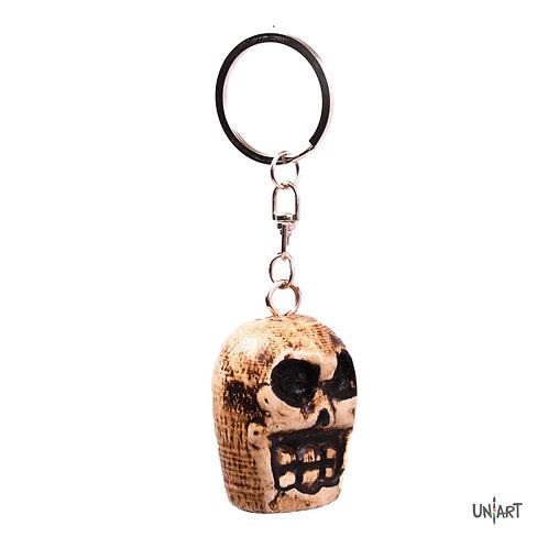 uniart key-chain accessories sugar skull doctor skeleton favorite things miniature handmade wood art gift dayofthedead