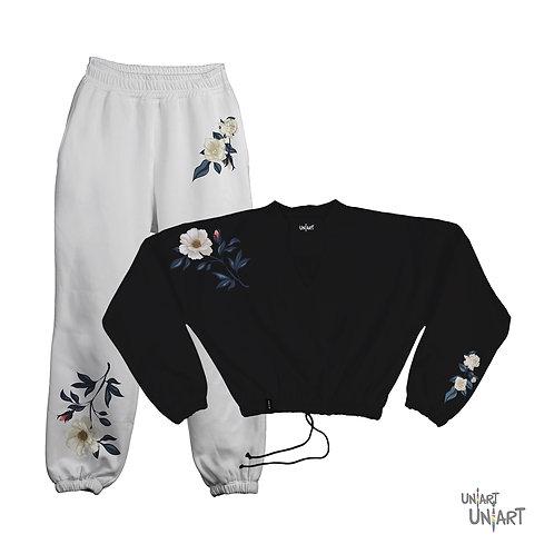 Floral V  sweat suit