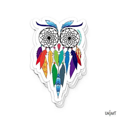 Dreamcatcher Spirited Owl Sticker