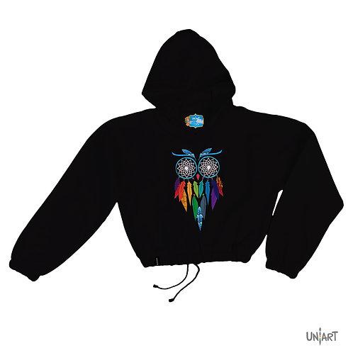 Dreamcatcher Spirited Owl crop hoodie