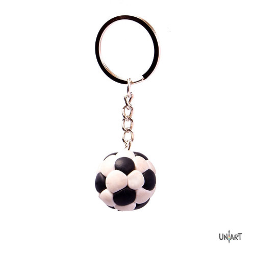 football player game realistic keychain holder uniart  accessories  favorite things miniature handmade art clay polymer gift