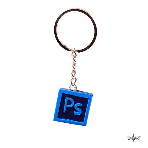 Photoshop graphic designer adobe keychain holder uniart  accessories favorite things miniature handmade art clay polymer gift