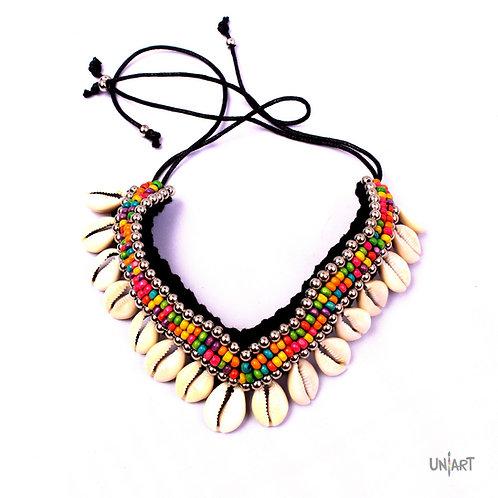 colorful seashells necklace uniart accessories bohemian gypsy style boho natural shell crochet colors stylish women girls