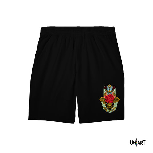 Shorts-Fatima's Floral Hand