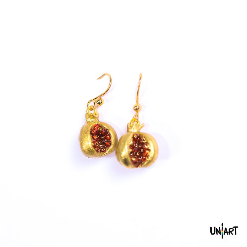 Gold Pomegranate Earrings