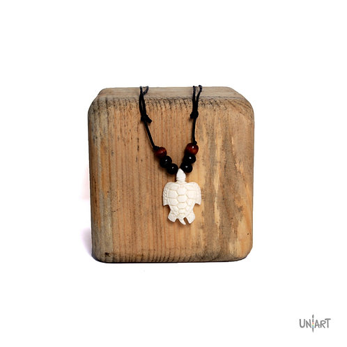 turtle necklace uniart accessories bone art carving adjustable handmade handcarved unisex men woman