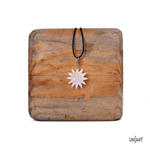 sun face necklace bone sterling silver men women fashion accessories amman jordan wadi rum mountain souvenir gift handmade