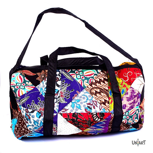 uniart accessories gym bag quilt handmade colorful pattern