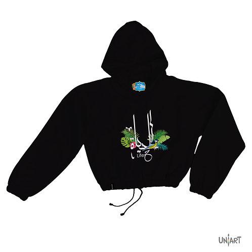 Al Haya crop hoodie