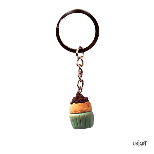 cupcake keychain gift bakery sweets uniart fav things key holder