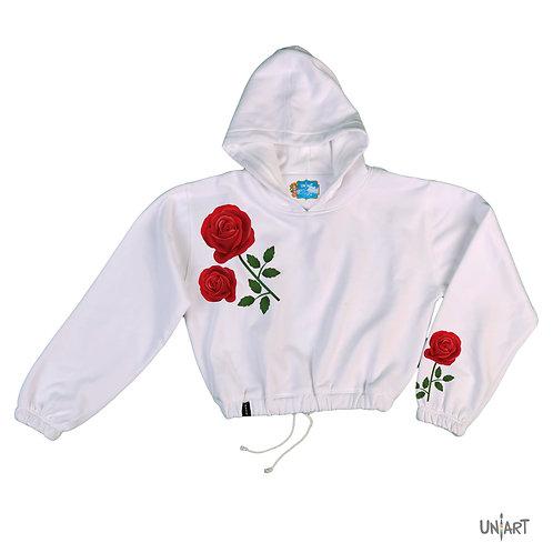 La rosa crop hoodie