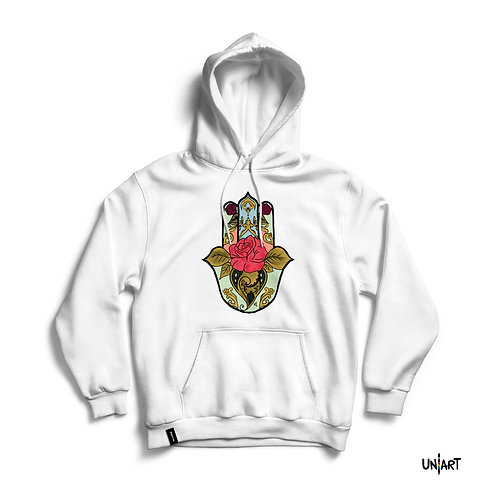 Fatima's Floral Hand Hoodie