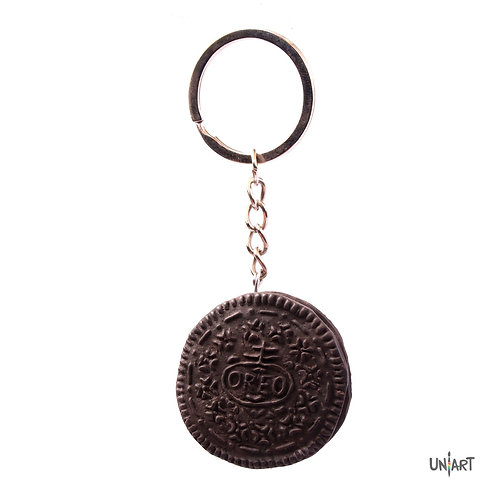 uniart key-chain accessories food favorite real things miniature handmade art clay polymer gift oreo chocolate cookies sweets