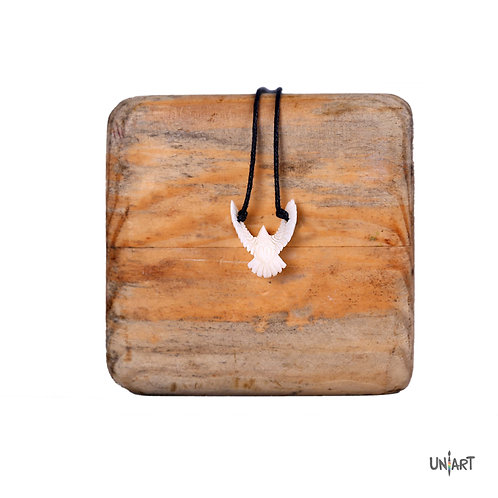 small dove peace white wings necklace bone art fashion men women accessories gift souvenir uniart