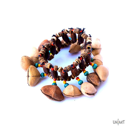 uniart dance accessories anklet bracelet bohemian style boho african style handmade wooden natural
