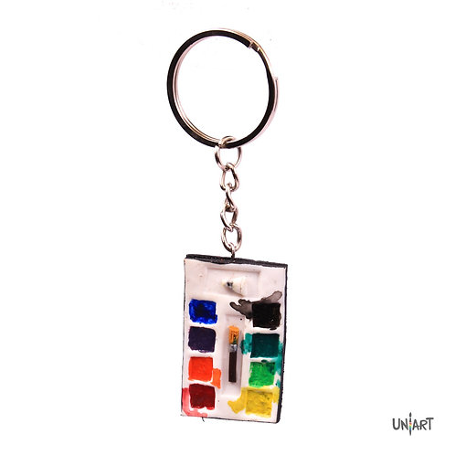 art pallet artist water colors realistic keychain uniart accessories favorite things miniature handmade art clay polymer gift