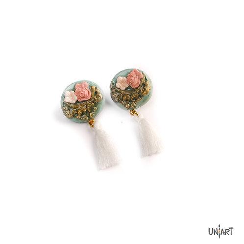 The rosette earrings