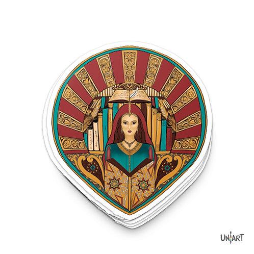 The Library of Fatima Sticker