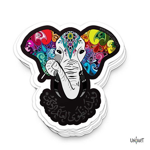 Hymn Tune of Elephants Sticker