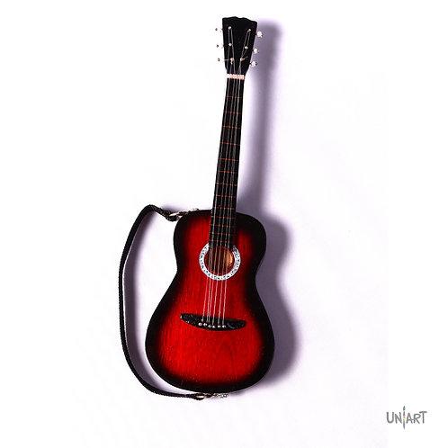 uniart cool colory stuff decoration miniature wood art classic guitar music guitarist mini handmade