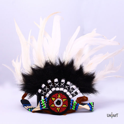 uniart white costume colory stuff coolstuff Indian Headband Native American Indian Headband Feathers Halloween