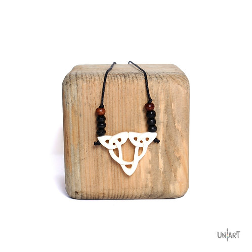 Hercules necklace women men unisex uniart accessories bone art carving adjustable handmade handcarved
