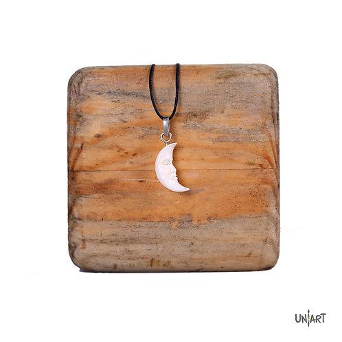 moon face necklace bone sterling silver men women fashion accessories amman jordan wadi rum mountain souvenir gift handmade