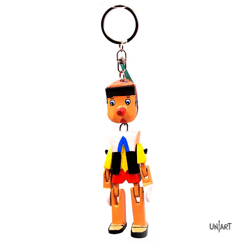 uniart key-chain accessories favorite things miniature handmade art wood gift pinokio lier disney