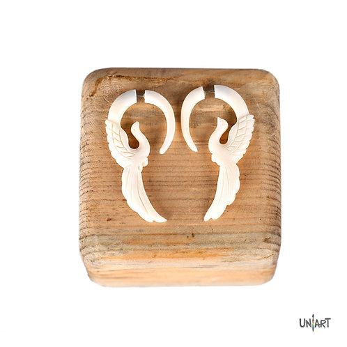 white dove wings earring amman sky bone art fashion accessories gift souvenir uniart