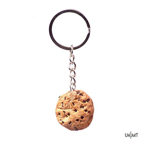 uniart key-chain accessories food favorite things miniature handmade art clay polymer gift chocolate chocoholic desert cookie