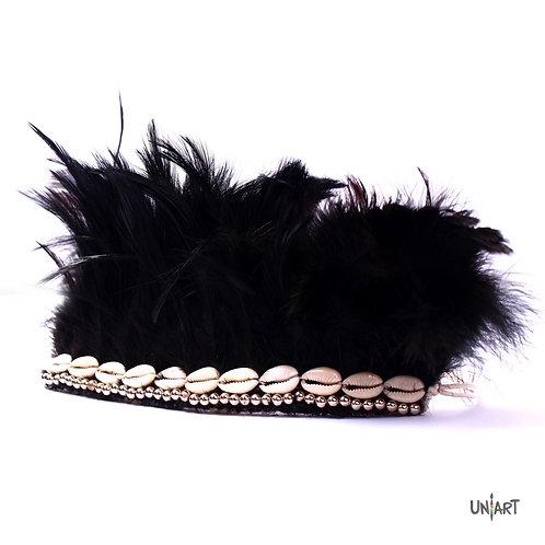 uniart accessories handmade black cool stuff costume armlet nature art feathers seashells boho bohemian gypsy