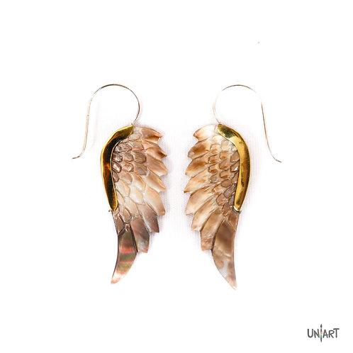 Earring Mallard wings
