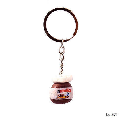 uniart keychain accessoies favourite things handmade clay art cool miniature gift nutella mini chocolate
