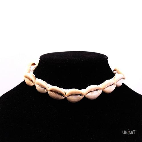 uniart natural accessories necklace choker seashells crescent moon gypsy style boho bohemian