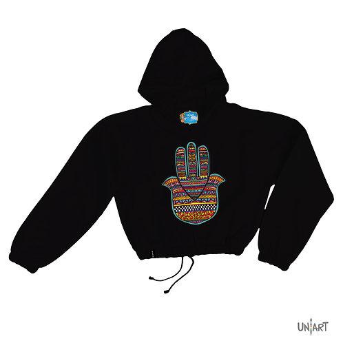 Fatima's Hand of Rituals crop hoodie