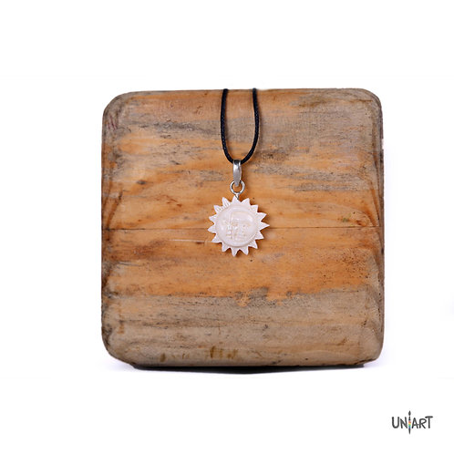 sun moon necklace bone sterling silver men women fashion accessories amman jordan wadi rum mountain souvenir gift handmade