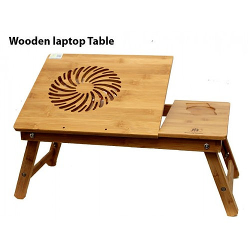 Laptop Table Folding Wooden With Adjustable Legs