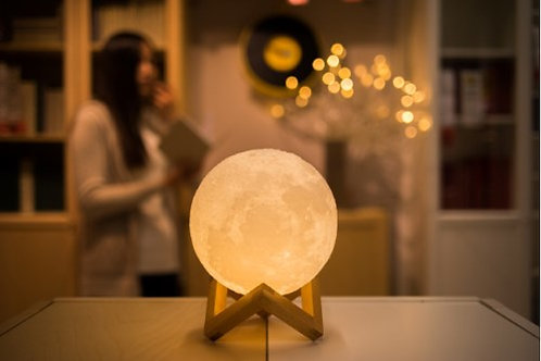 3D Moon Lamp USB LED Night Light Moonlight Gift Touch Sensor Color Changing Lamp