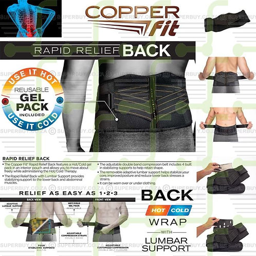 COPPER FIT WAIST PAD HOT AND COLD THERAPY FOR WAIST