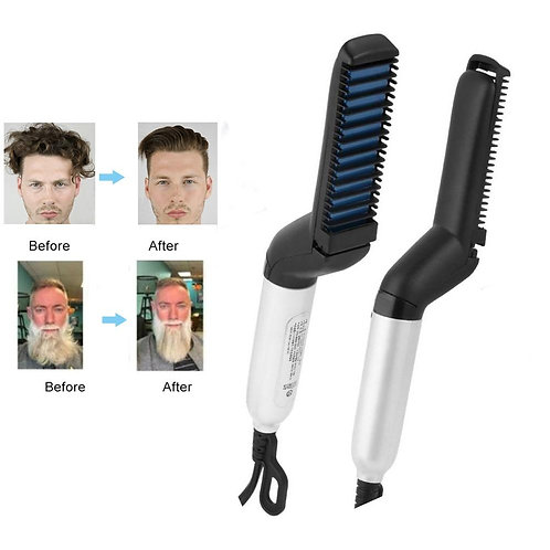 Electric Hair Beard Comb Quick Straightener Multifunctional Styling for Men